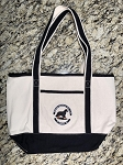 Embroidered Canvas Boat Tote