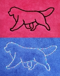 New! Embroidered Microfiber Towel