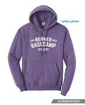 New! Glitter Screen Print Basecamp Pullover Hoodie (Unisex)