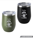 New! 12 oz. Happy Camper Insulated Tumbler