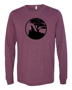 This vintage longsleeve tee (first in BMDCA's throwback series) features a screen print of the windswept Berner/Cypress design by Judith Hengeveld, previously sold @ 2015 National in Monterey CA.<p/>Limited quantities/sizes available in Maroon Triblend, Brick Triblend, Heather Deep Teal or Ice Blue.<p/>See Description below for product features.