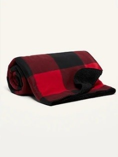 Cozy, warm lap blanket has Buffalo Plaid micro performance fleece on one side and even cozier sherpa fleece on the other for those nights in front of the fireplace or on the sofa.<p/>Features Berner Basecamp patch in corner.<p/>See Description below for product details.